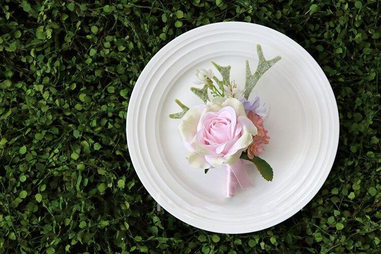 pink wrist corsage boutonniere wedding  (12)