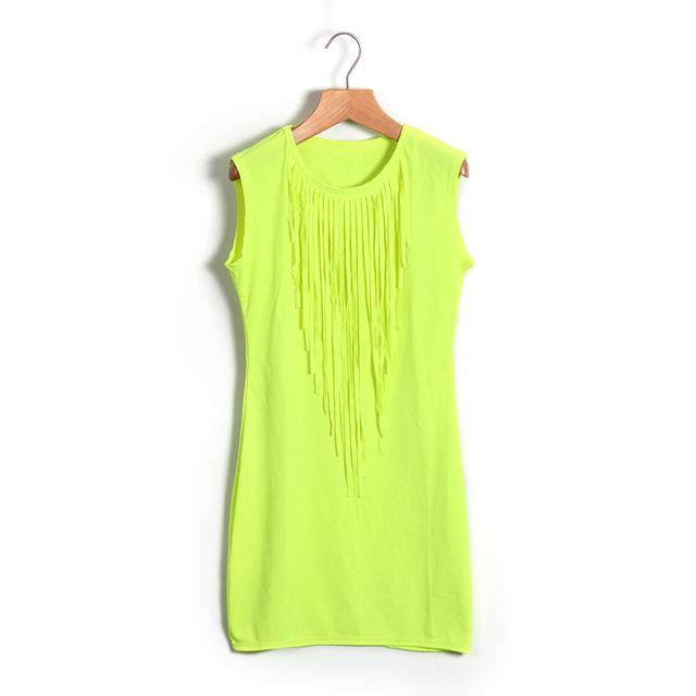 Neon Mini Summer Dress