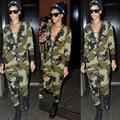 Детский комбинезон женщин комбинезон 2016 новый способа прибытия сексуальный клуб боди army green с длинным рукавом Американский продажа одежды длинные брюки комбинезоны