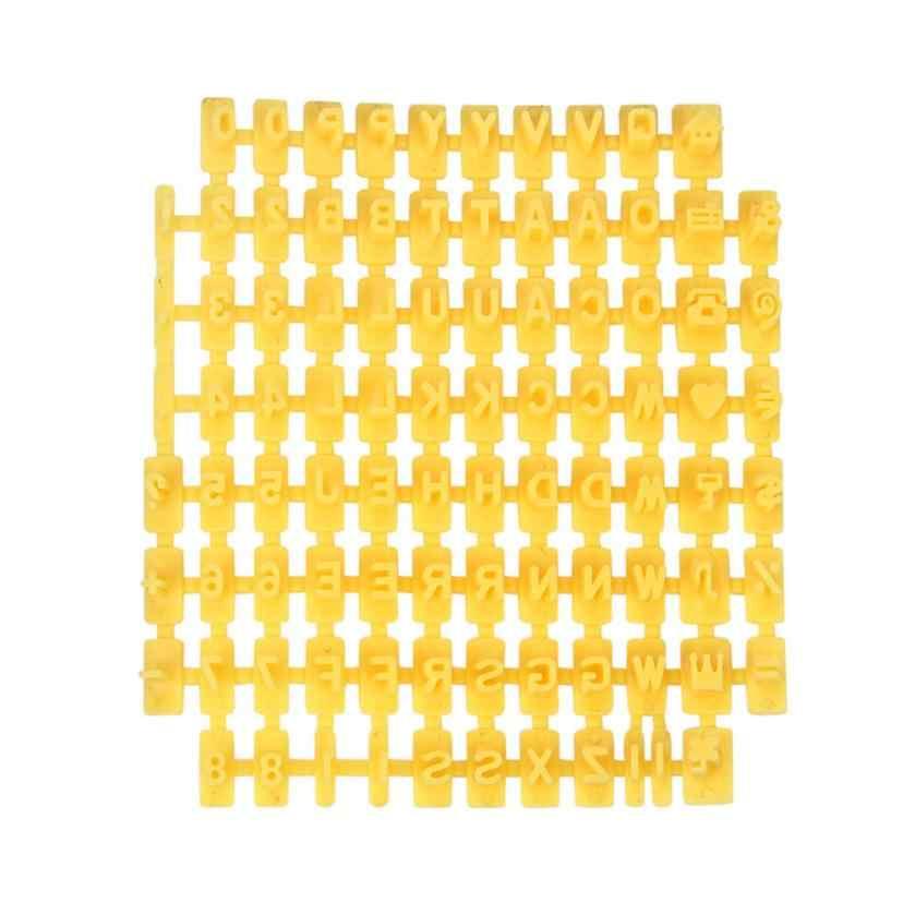 Novo quente 2pc quente 8*9*0.7cm número da letra do alfabeto biscoito cortador de biscoito imprensa carimbo embosser bolo molde misterioso engraçado jogar