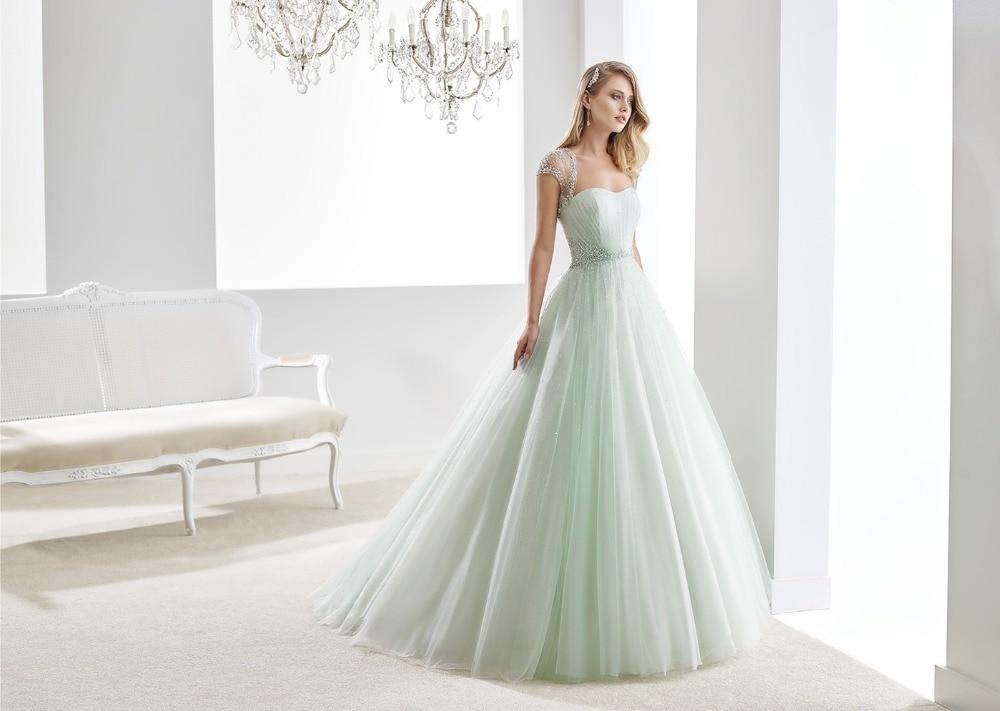 Wedding Gowns 2015: Aqua 2 Piece Wedding Dresses 2015 New Fashion Romantic