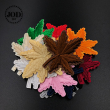 JOD* Australia Maple Leaf Embroidered Iron on Patches for Clothing DIY Stickers Clothes Patch Fabric Badges Applique Application flower lace embroidery iron on stickers applique clothes patch embroidered patches for clothing rose badges fabric
