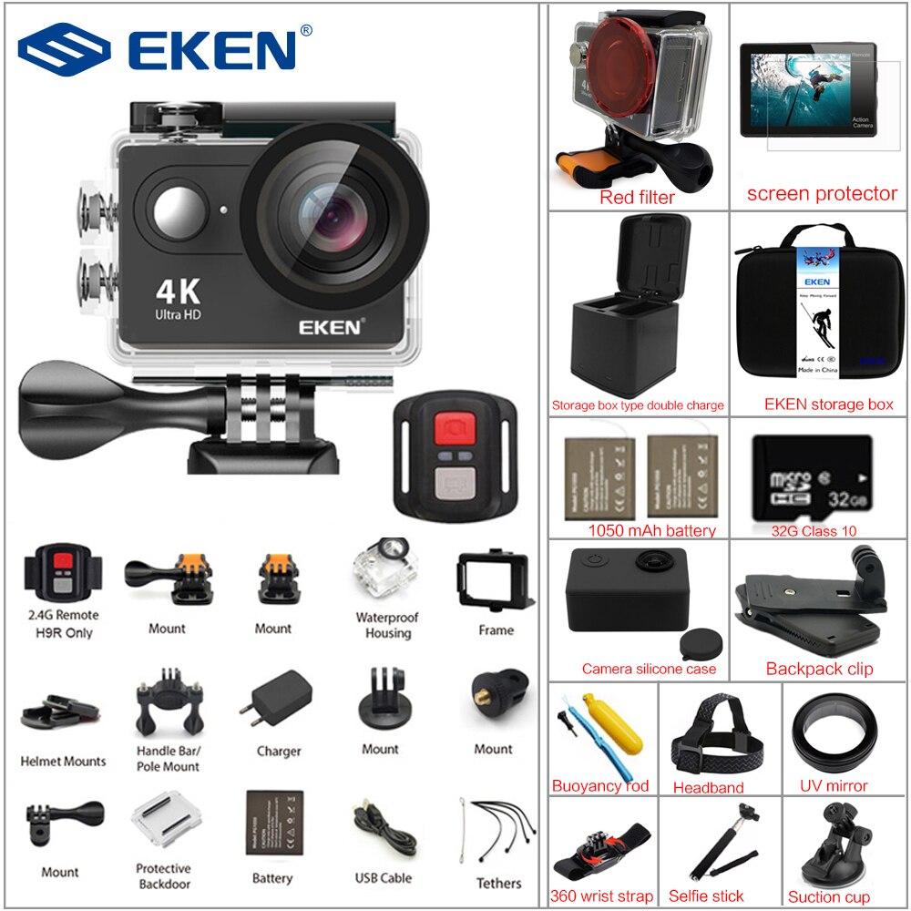 Экшн-камера eken H9R/H9 Ultra HD 4k WiFi 1080 P/60fps удаленного Управление Спорт видеокамера DV go Водонепроницаемый pro камер