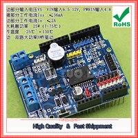 Free Shipping 2pcs L298P Motor Shield Stepper DC Motor Drive Module Drive Expansion Board (D2A2)