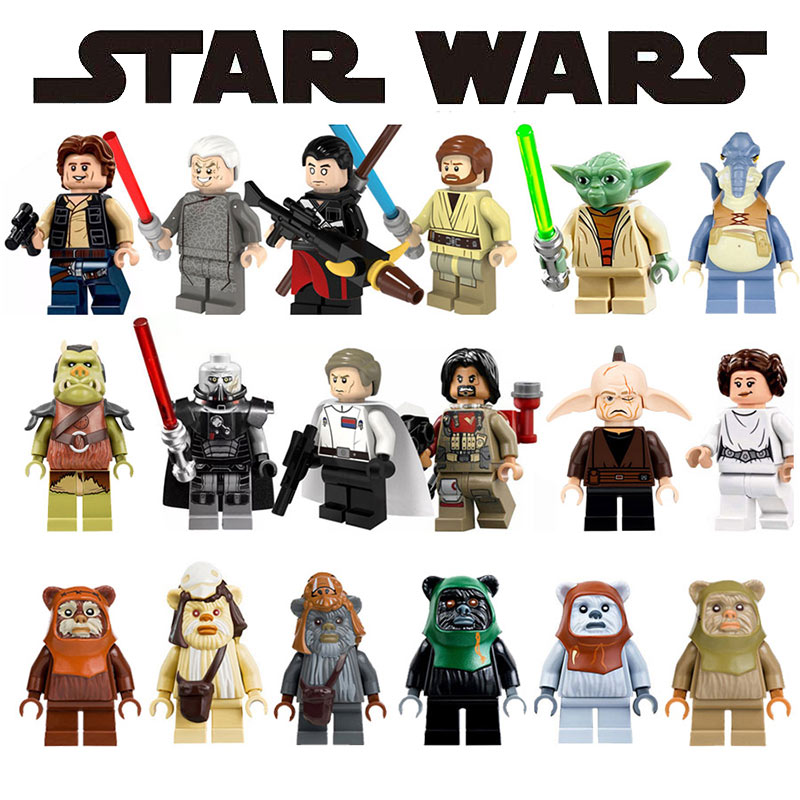 Star Wars Han Solo Darth Vader Figures Chewbacca Yoda Imperial Stormtrooper Army Leia Building Blocks Gifts Toys for Children