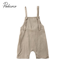 2018 Brand New Toddler Infant Newborn Kid Boy Girl Bib Pants Romper Jumpsuit Playsuit Outfit Solid