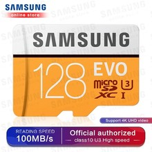 цена SAMSUNG Micro SD Memory Card 32G 64G 128G 256 MicroSD Cards SDHC SDXC Max 95Ms EVO 32GB 64GB C10 TF Trans Flash Micro Card