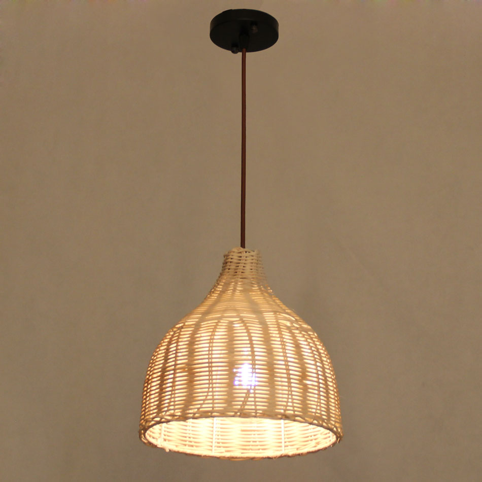LED Wicker pendant lights Hand knitter pendant lamp Mediterranean fields and gardens style