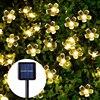 Sunlight LED Solar Light Peach Flower Solar Lamp Power LED String Fairy Lights Solar Garlands Garden Christmas Decor For Outdoor review
