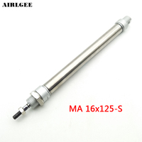 16mm Bore 125mm Stroke Double Actuator Single Rod Pneumatic Air Cylinder