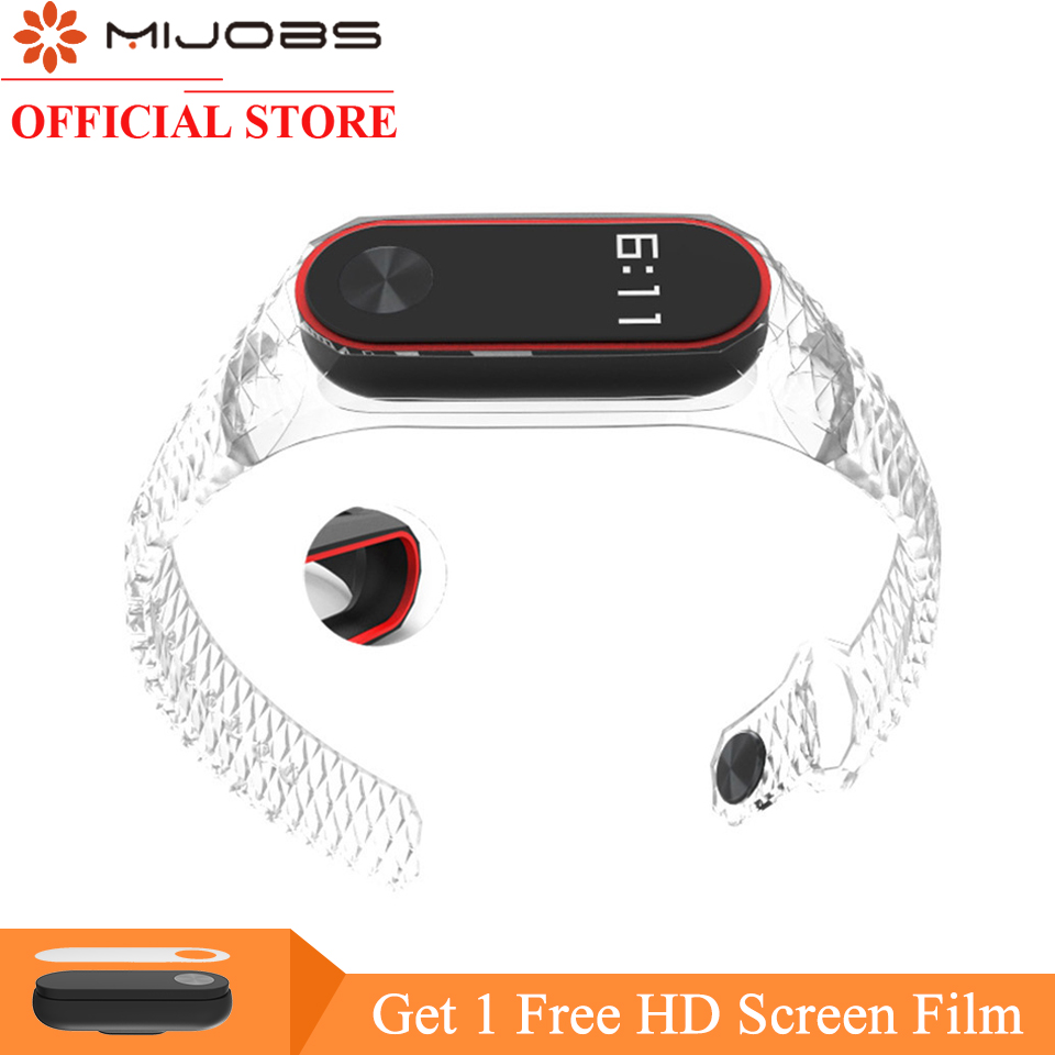 Mijobs Miband 2 Strap For Xiaomi Mi Band 2 Strap Aurora Silicone Wrist Strap For Mi Band 2 Bracelet Replacement Wristbands