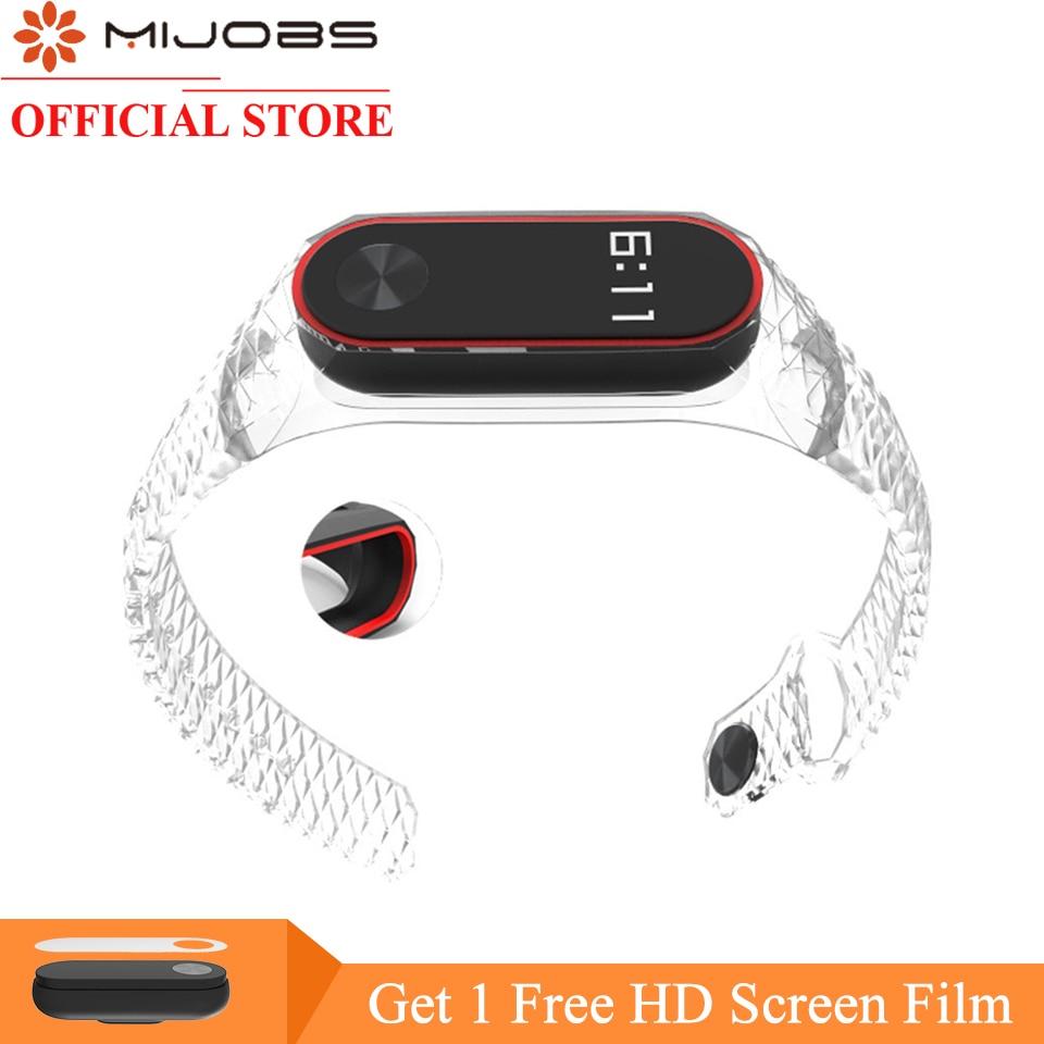 Original Mijobs Xiaomi Mi Band 2 Strap Aurora double color Silicone Wrist Strap for Mi band 2 Bracelet Replacement Wristband цены онлайн