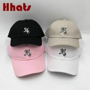 unisex fashion embroidered astronaut dad hat cotton men baseball cap hip hop summer women snapback hat bone(China)
