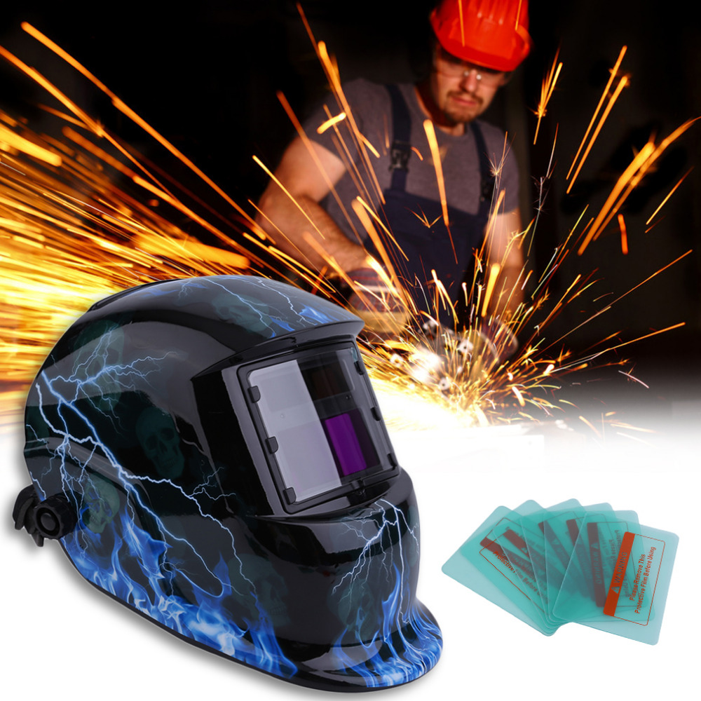 Practical Welding Mask Cap Helmet With Protecting Film Mig Grinding Solar Powered Welding & Amp Soldering Supplies professional welding wire feeder 24v wire feed assembly 0 8 1 0mm 03 04 detault wire feeder mig mag welding machine ssj 18