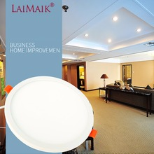 LAIMAIK LED Panel Light Round Square Ultra Thin AC220V 6W 8W 15W 20W LED Ceiling Panel Recessed Light For Indoor LED Lighting 15w magnetic led panel light strip magnetic led panel rectangle led panel for ceiling light which is easy to install bulb