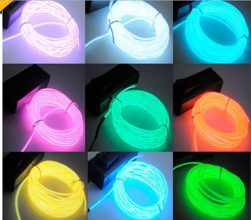 NEW 2PCS 5m 9 colosr Fairy Light Rope String Lighting Neon LED EL ...