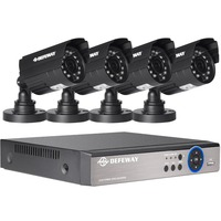 Defeway 8CH 1200TVL CCTV Камера охранных комплект видеонаблюдения с аварийного аккумулятора день Ночное Видение видеонаблюдения