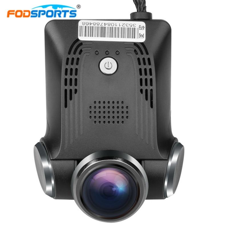 Автомобиль Fodsports беспроводной видеорегистратор 1080p видеорегистратор тире камерой 170 градусов широкоугольный объектив G-датчик камеры без экрана внешний GPS регистратор