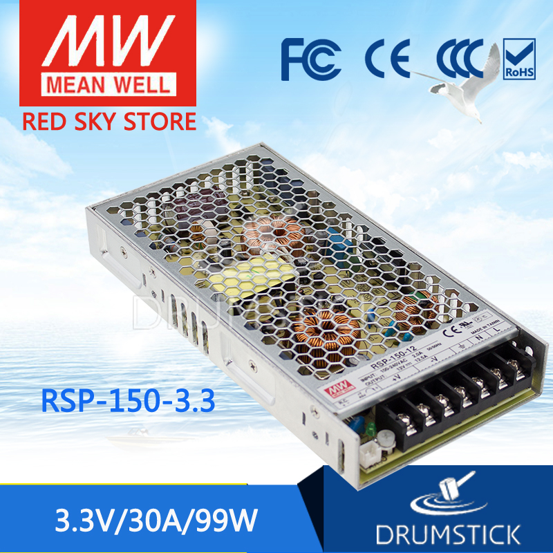 100% Original MEAN WELL RSP-150-3.3 3.3V 30A meanwell RSP-150 3.3V 99W Single Output with PFC Function Power Supply [Real1] [mean well1] original epp 150 15 15v 6 7a meanwell epp 150 15v 100 5w single output with pfc function