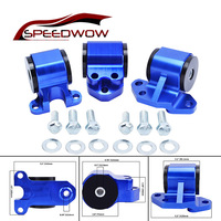 SPEEDWOW EG Red BILLET ALUMINUM SWAP ENGINE MOTOR MOUNT KIT FOR CIVIC EH DC D15 D16 B16 B18