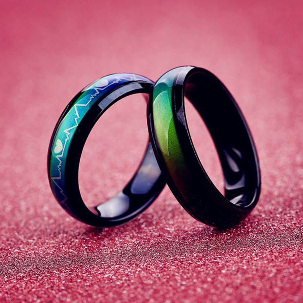 Rainbow Ring Colorful Men Women Titanium Stainless Steel Couple ...