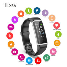 Smart Wristband Fitness Bracelet Touch Screen OLED Message Heart Rate Sleep Monitor watch Smart band APP supports 10 languages цена
