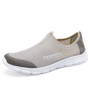 cd4549f92816 Breathable Men Mesh Beach Shoes Lightweight Outdoor Summer Water Shoes