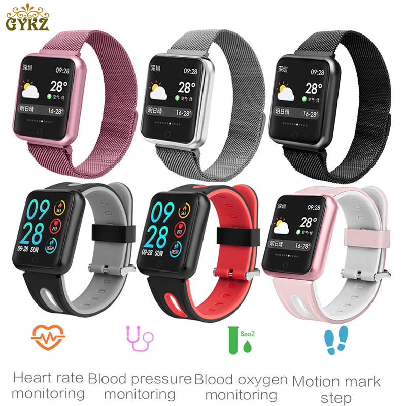 Sports IP68 Smart Watch P68 Fitness Bracelet Activity Tracker Heart Rate Monitor Blood Pressure For ios Android apple iPhone 6 7 цена и фото