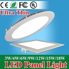 Круглый/площади утопленный светодиодная потолочный ультра панель светильник светодиодный тонкий свет вт