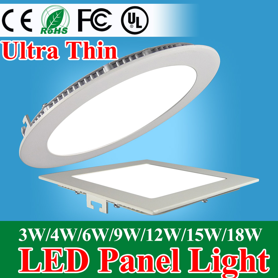 Ultraslim Round Dimmable LED Recessed Ceiling Panel Down Light Bulb Lamp 2016NEW