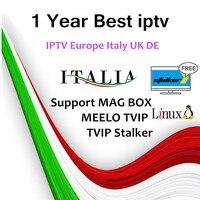 iptv M3u subscription Stalker IPTV Italy Europe UK Germany Belgium French Spain Channels MAG Android MEELO TVIP Tv Box 1 years