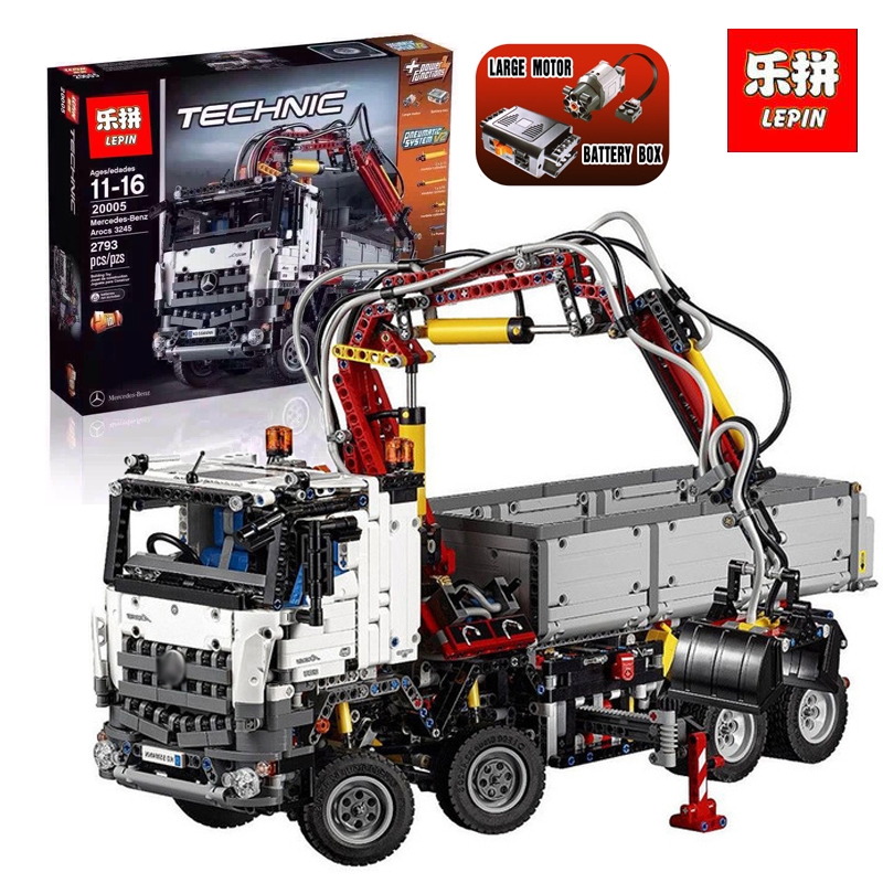 LEPIN 20005 technic series 2793pcs New Arocs truck Model Building blocks Bricks Classic Compatible 42043 Boys LegoINGlys Gift lepin technic series building bricks 20005 2793pcs arocs truck model building kits blocks compatible 42043 boys toys gift