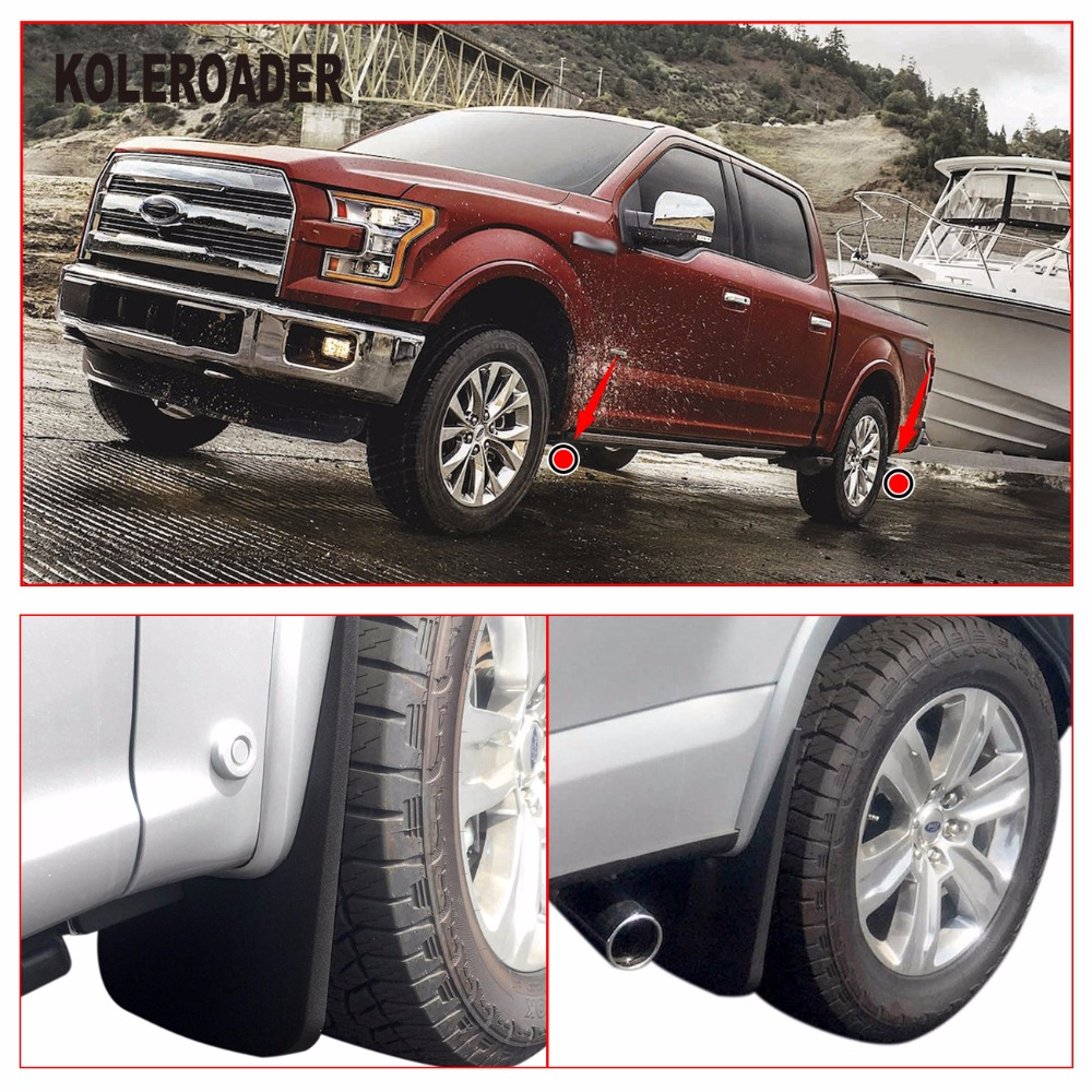 Front Rear Molded Splash Guards Mud Flaps For Ford F With Wheel Lip Fender Flares In Mudguards From Automobiles Motorcycles On