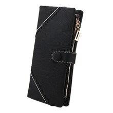 Wholesale10pcs *สไตล์เกาหลียาวผู้หญิงกระเป๋าสตางค์Messaengerกระเป๋ากระเป๋าถือR Etroโง่โปแลนด์วางกระเป๋าMultฟังก์ชั่นWBG01074-black