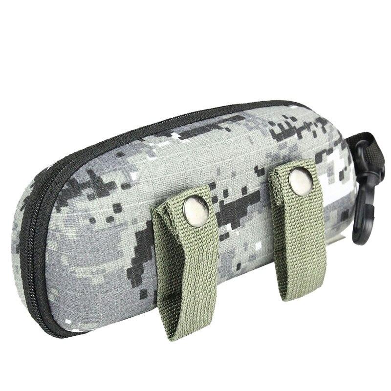 Portable Glasses Case Hard Tactical EVA Camo Molle Buckle Sunglasses Box Eyewear Holder Pouch Outdoor EDC Sports Travel Bags Men