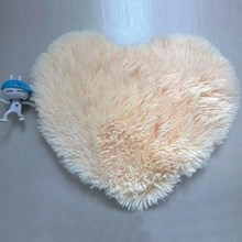 Hoomall 1PC Lovely Heart-shaped Silk-wool Carpet Tea Table Bed Do Not Remove Woolen Carpet Bedroom Living Room Decor 30x40cm(China)
