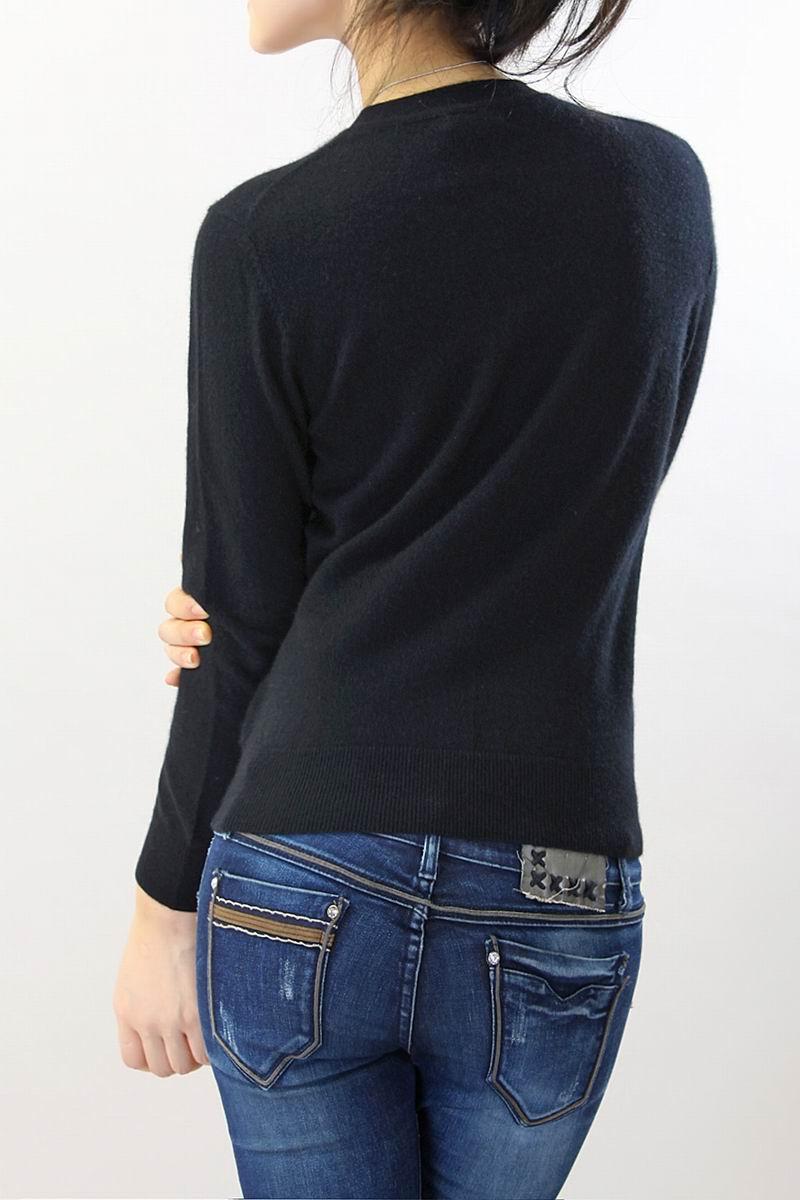 Cachemire cou O Pull Noir 100 Livraison Cardigan Naturel Chaud Haute Doux Tissu Liquidation Qualité En Femmes Gratuite Et qdwEdXI