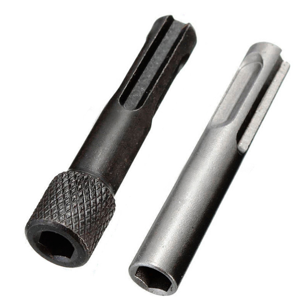 2 Pcs SDS 1/4'' Hex Shank Screwdriver Holder Drill Bits Adaptor Converter Magnetic SDS Kit For Hammers Impact Drill Bits