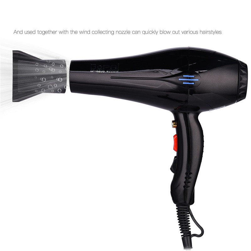 Image 4 - 4000W Powerful Professional Salon Hair Dryer Negative Ion Blow Dryer Electric Hairdryer Hot/Cold Wind With Air Collecting NozzleHair Dryers   -