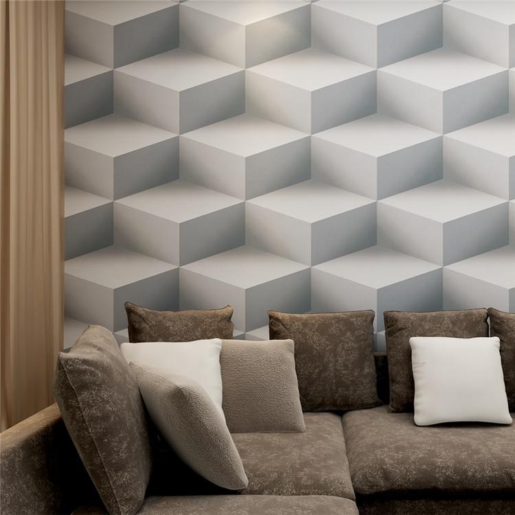ФОТО HANMERO 3D Effect Geometric Pattern Modern Simple style Wallpaper Waterproof Vinyl PVC Wallpaper for Walls QZ0421