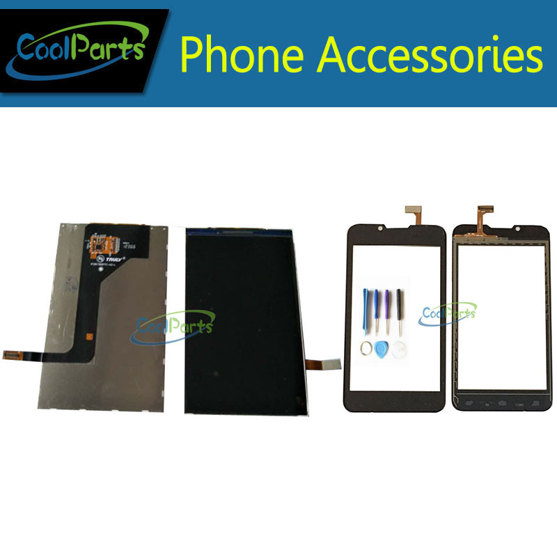 1 PC/Lot de Haute Qualité Pour Fly IQ441 IQ 441 LCD Affichage Écran + Écran Tactile Ditizer Avec Outil Pièce De Rechange noir Couleur