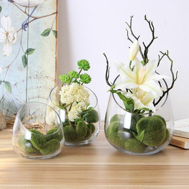 De woonkamer decoratie bloemenvaas creative schuine tafel decoratie ...
