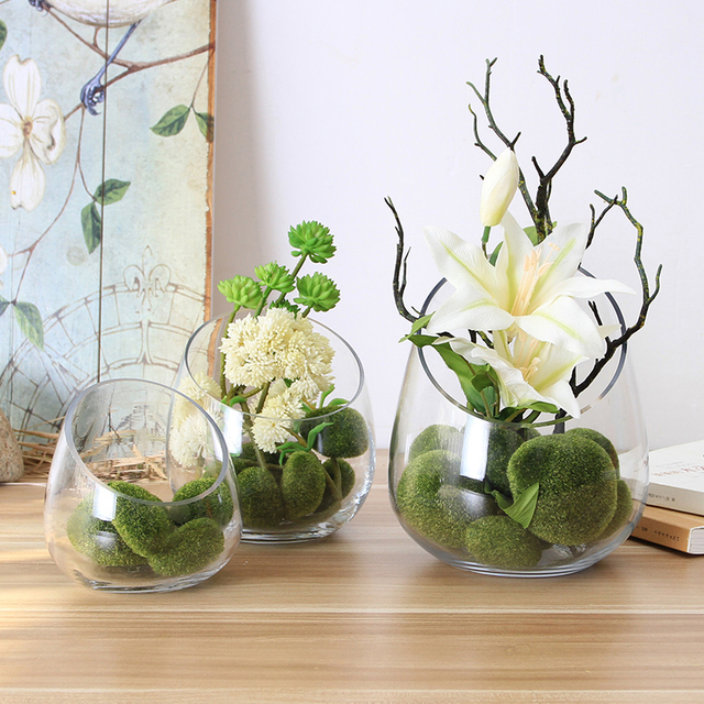 The Living Room Decoration Flower Vase Creative Oblique Table