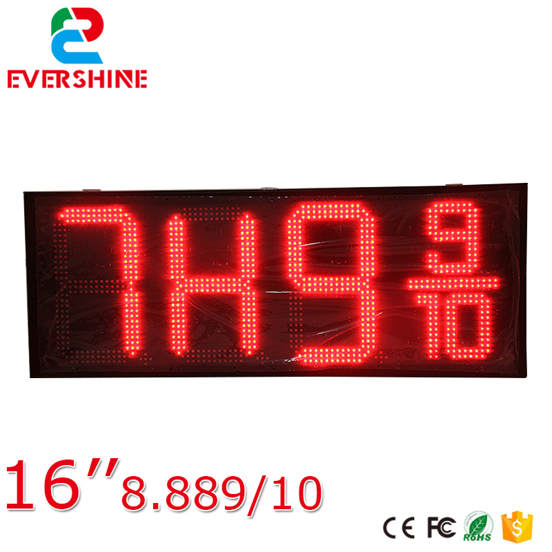 Hot sale 16inch waterproof oil price led digital number display screen/sign/panel from China ld7750rgr sop 7