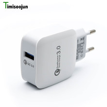 Quick Charge QC3.0 Mobile Phone Charger 15W 2.4A Fast Charging For iPhone X 8 plus Wall Travel Charger for Samsung Galaxy s8 s7(China)