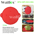 Multifunction 3 in 1 Silicone Splatter Screen Splatter Guard Silicone Strainer, Silicone Trivet pot lid pan cover Splatter Guard
