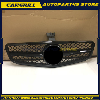 Front Grill Gloss Black For 2008-2014 BENZ W204 C-Class AMG C200 C250 C300 C350