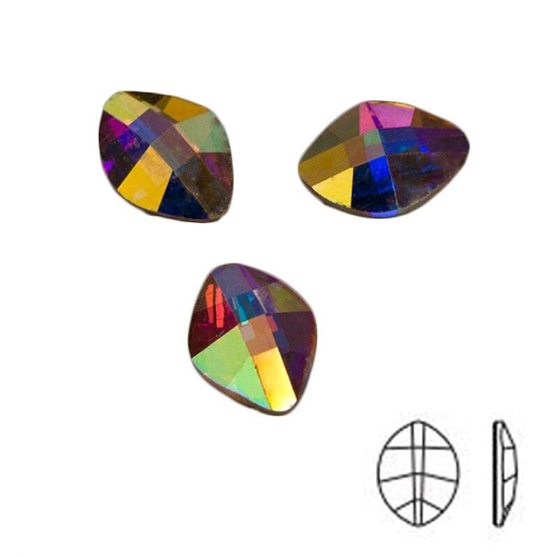 YANRUO 144pcs 4x6mm Crystal AB Rainbow Rhinestones Nail Art Crystal - Arte de uñas - foto 4