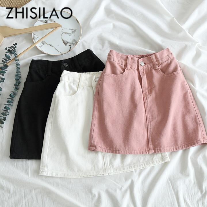 Женская облегающая мини юбка Jupe, облегающая мини юбка карандаш с высокой талией, лето 2019|Юбки|   | АлиЭкспресс