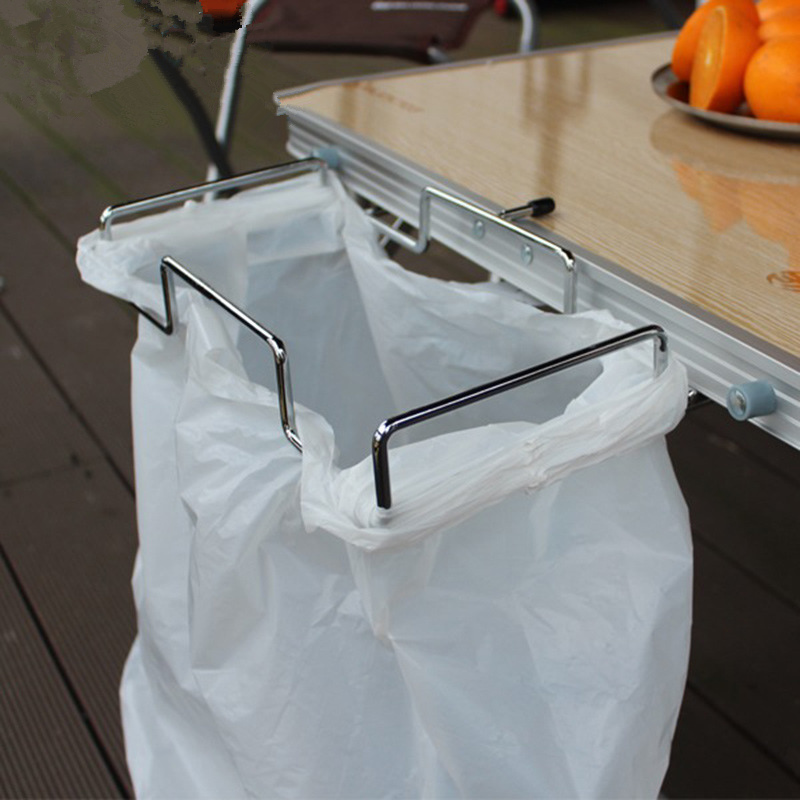 32x26x45cm Metal Hanging Garbage Bags font b Rack b font Outdoor Picnic Barbecue font b Storage